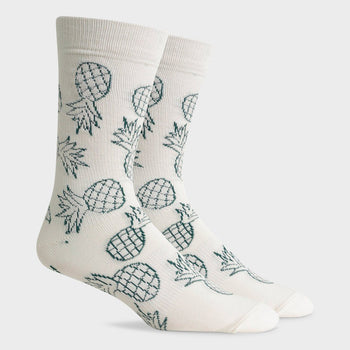 product: Richer Poorer Luau California Sock White Green