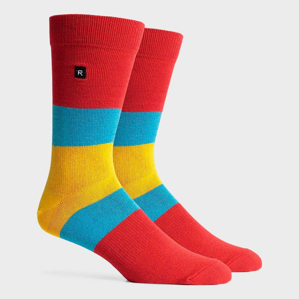 product: Richer Poorer Chief Crew Sock Red/ Yellow