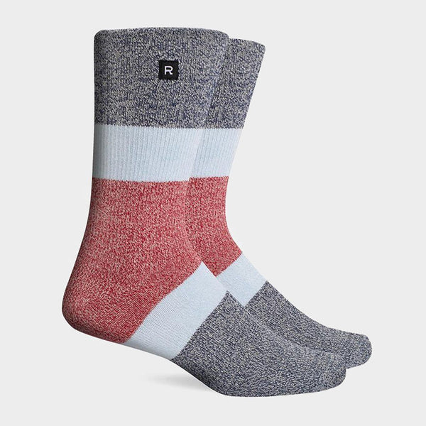 product: Richer Poorer Chief Midweight Sock Navy Red