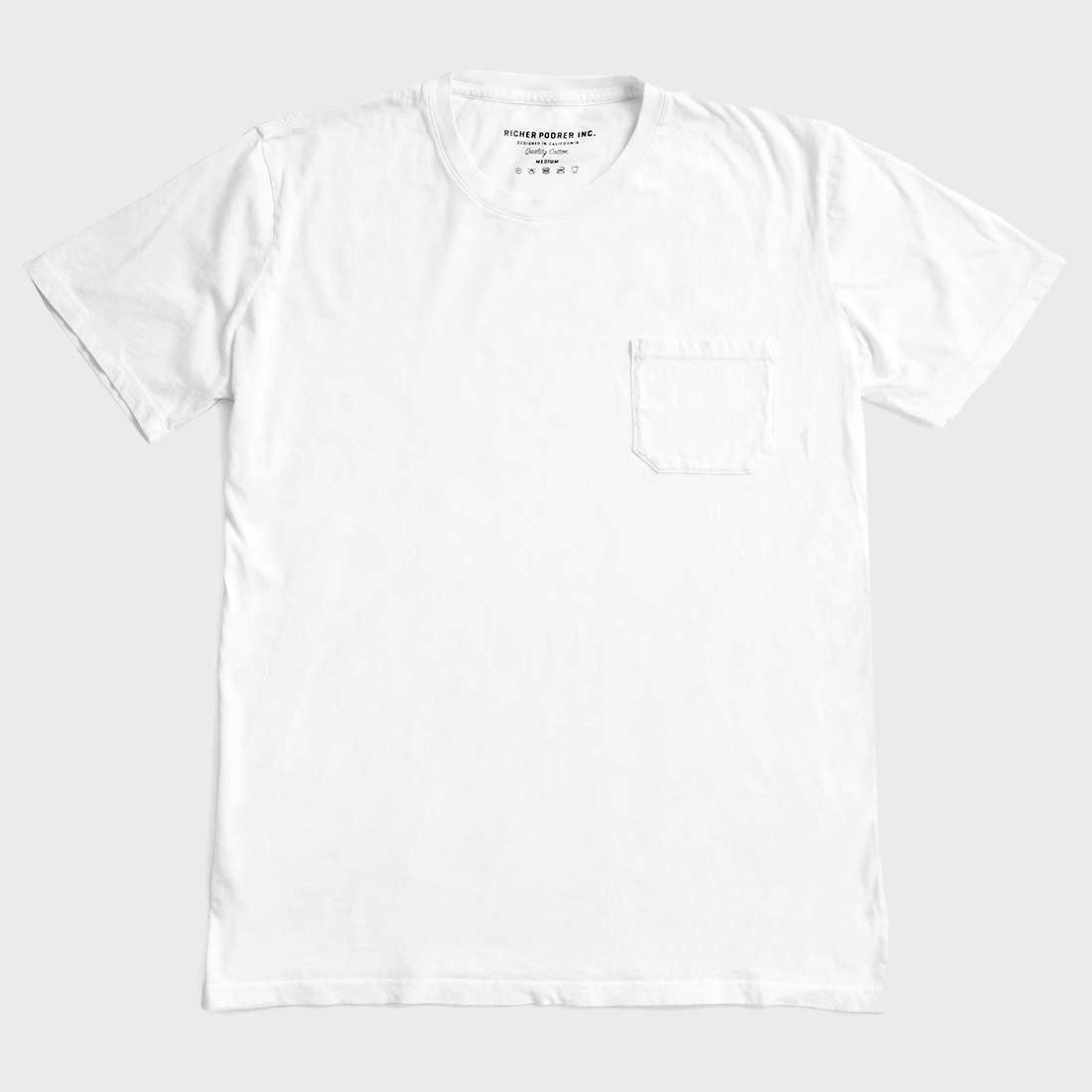 Richer Poorer Crew Pocket T-shirt White