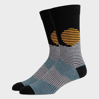 product: Richer Poorer Midweight Crew Sock Oakley Black White