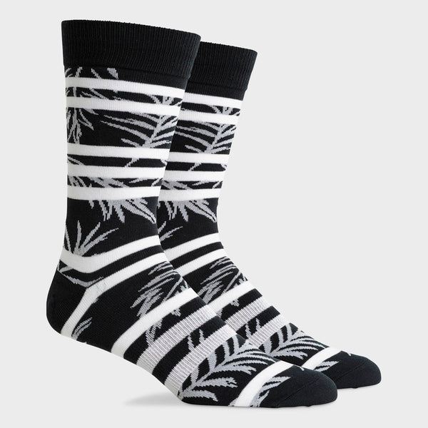 product: Richer Poorer Lightweight Crew Sock Cruise Black White