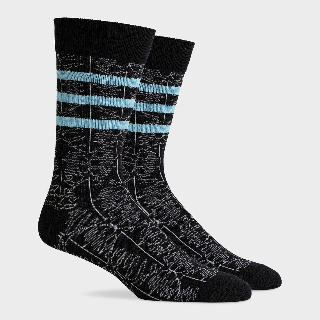 Richer Poorer Midweight Crew Sock Dylan Black Blue