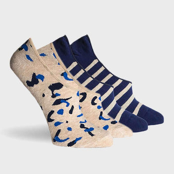 product: Richer Poorer Etta 2 pack Socks Oatmeal/Navy