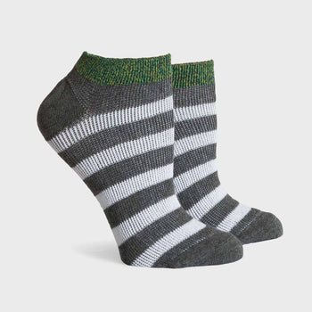product: Richer Poorer Fielder Low Socks Green/Charcoal