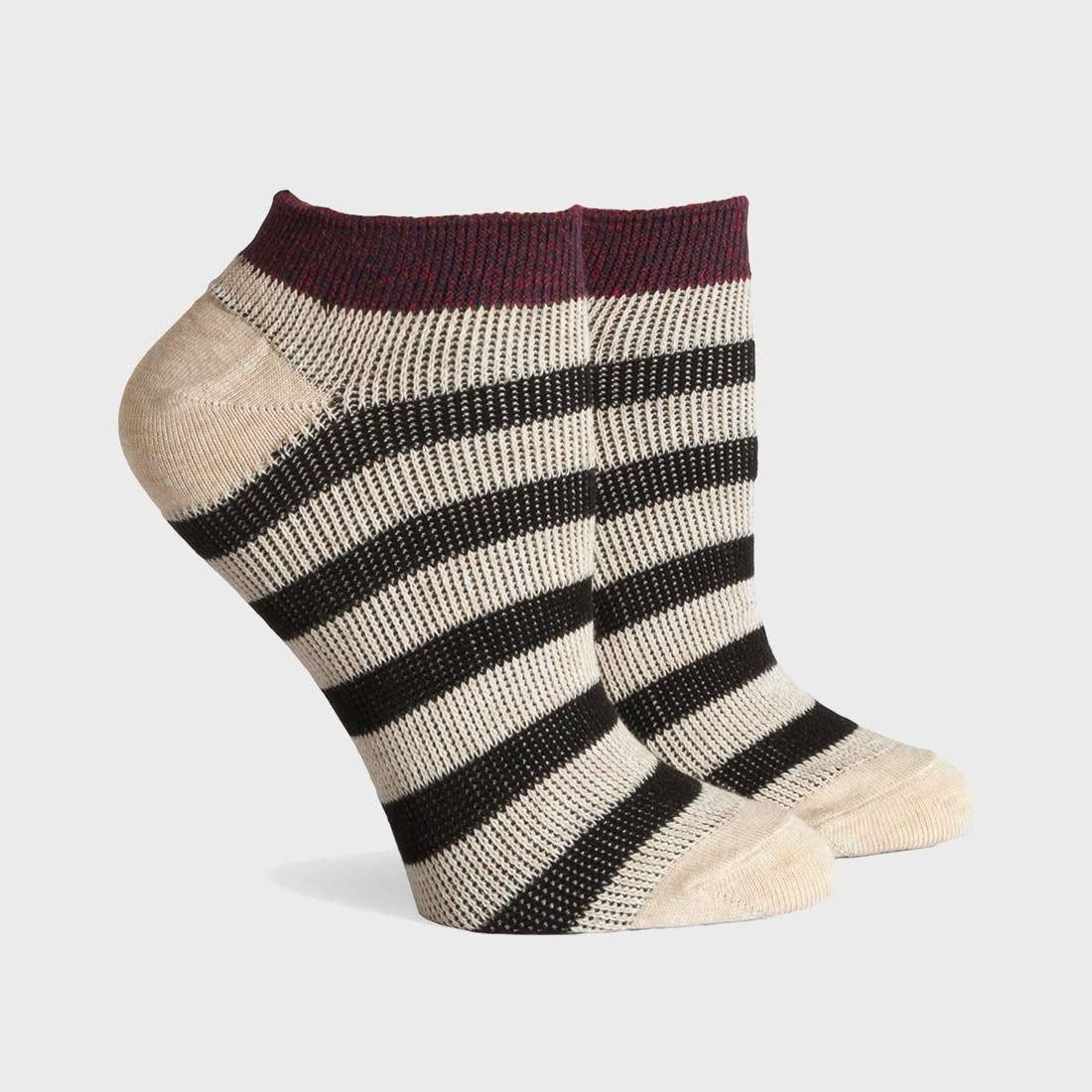 Richer Poorer Fielder Low Socks Red/Oatmeal