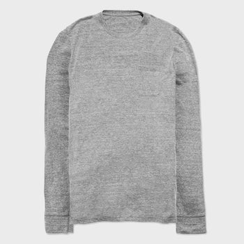 product: Richer Poorer L/S Crew Pocket T-shirt Heather Grey