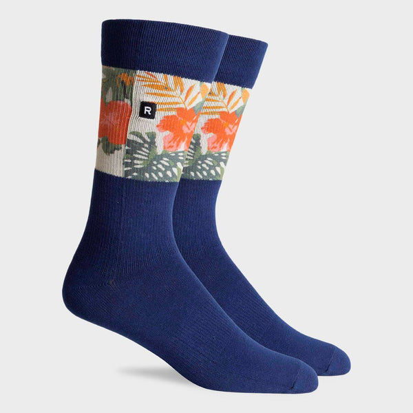 product: Richer Poorer Mahalo Crew Sock Navy