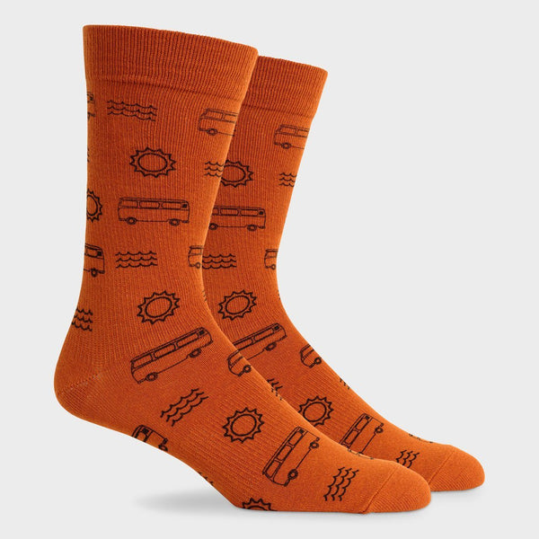 product: Richer Poorer Midweight Crew Sock Sun/Fun Tobacco