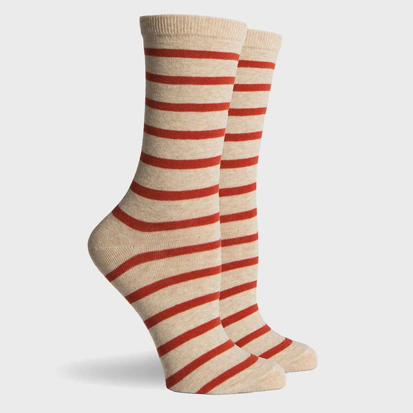 product: Richer Poorer Nora Women's Socks Oatmeal & Orange