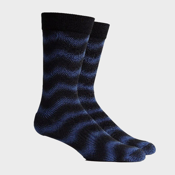 product: Richer Poorer Rave Waves Sock Palace Blue