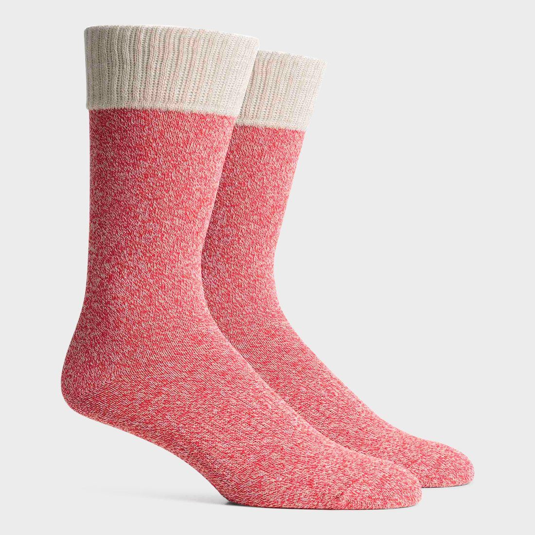 Richer Poorer Raya Crew Sock Red