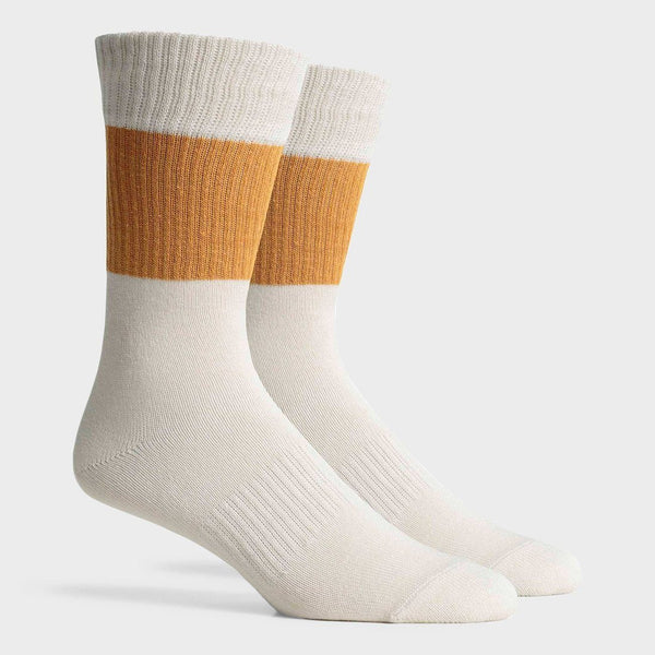 product: Richer Poorer Rigby Crew Sock Gold/ White