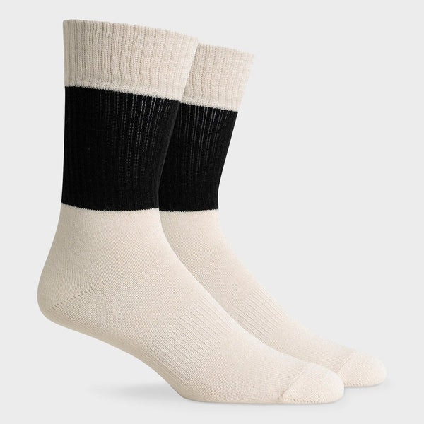 product: Richer Poorer Rigby Crew Sock White/Black