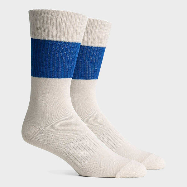 product: Richer Poorer Rigby Crew Sock White/ Blue