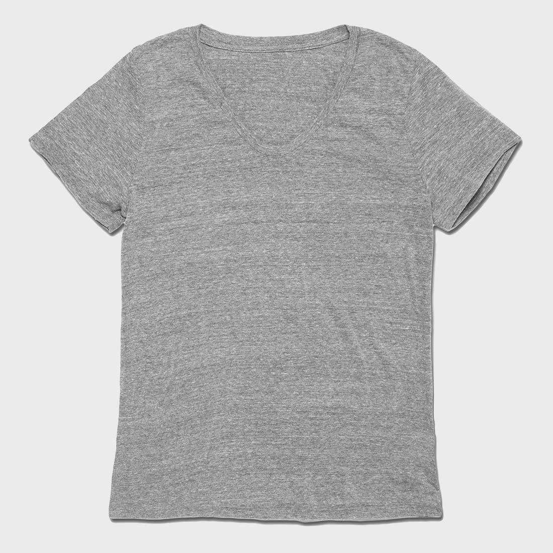 Richer Poorer Women's Scoop V T-Shirt Heather Grey
