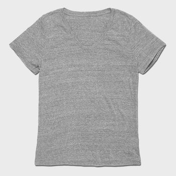 product: Richer Poorer Women's Scoop V T-Shirt Heather Grey