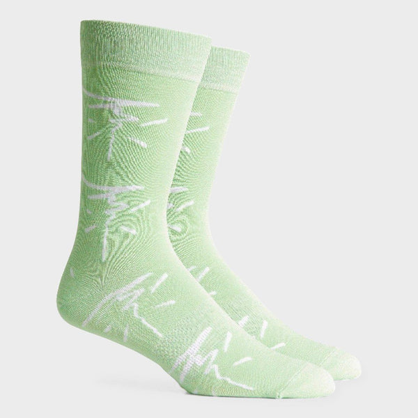 product: Richer Poorer Sketchy Sock Neon Mint