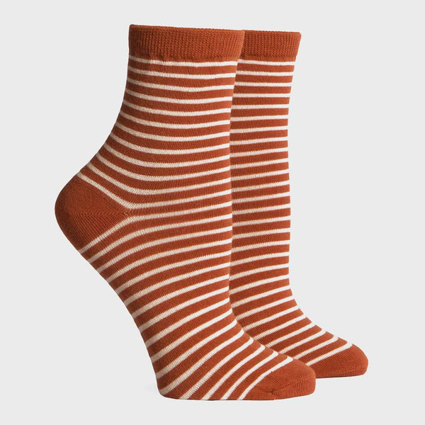 product: Richer Poorer Skimmer Socks Orange/Tan