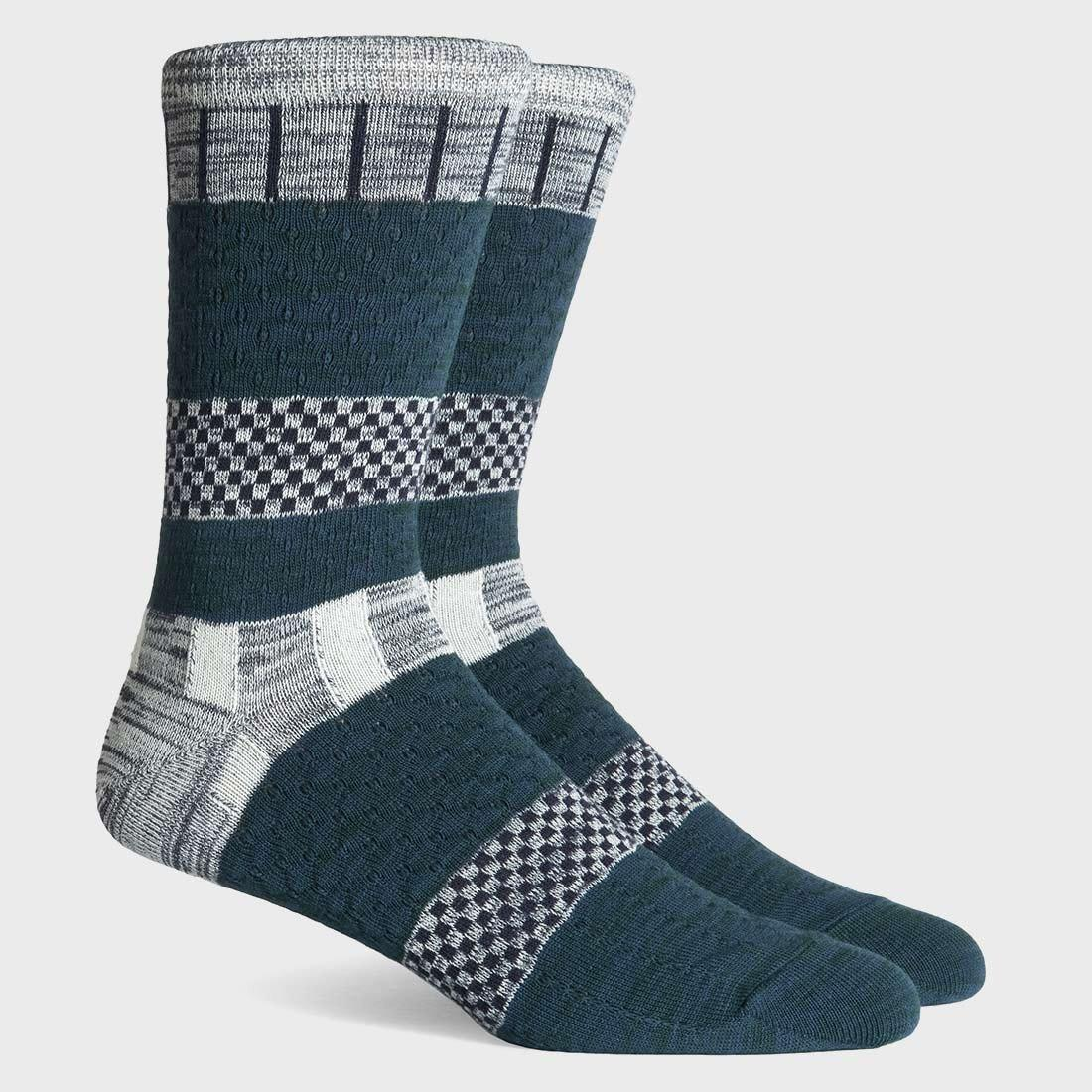Richer Poorer Strand Socks Green