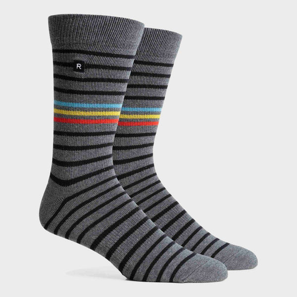 product: Richer Poorer Striker Crew Sock Charcoal/ Black