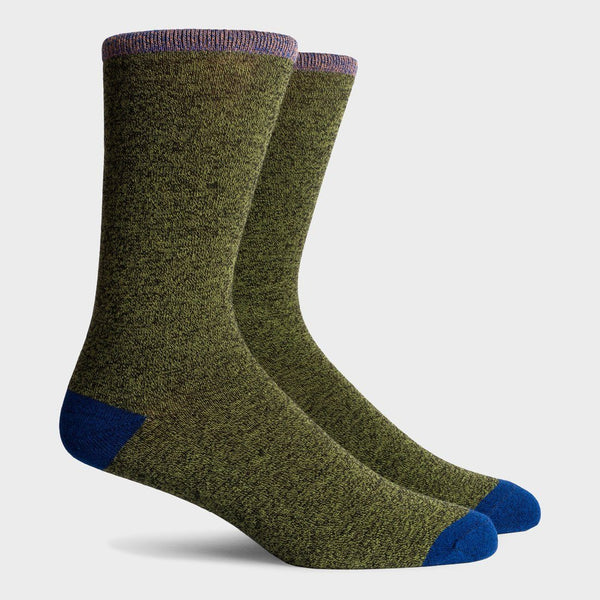 Richer Poorer Tanner Crew Sock Grey Navy