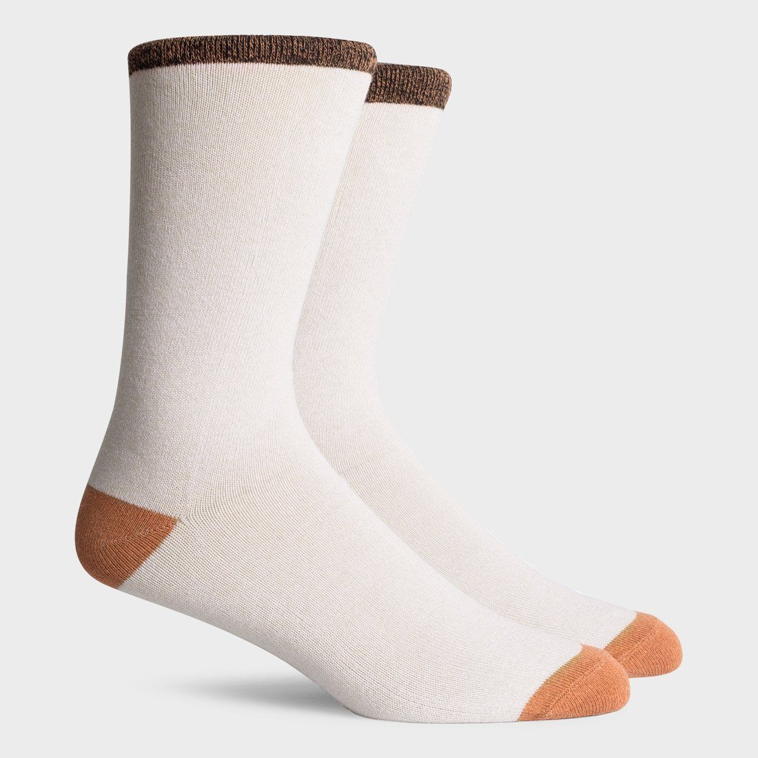 Richer Poorer Tanner Crew Sock White Tan