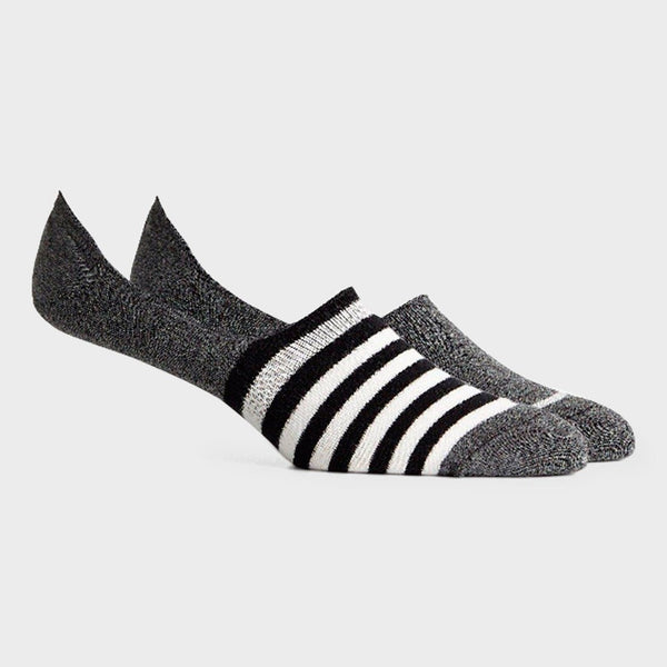 product: Richer Poorer Theo No Show Sock 2PK Black Ivory