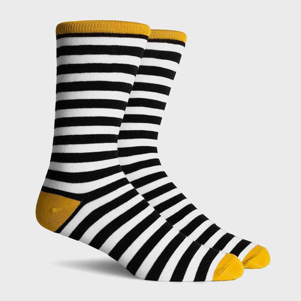 product: Richer Poorer Theo Crew Sock Black Gold