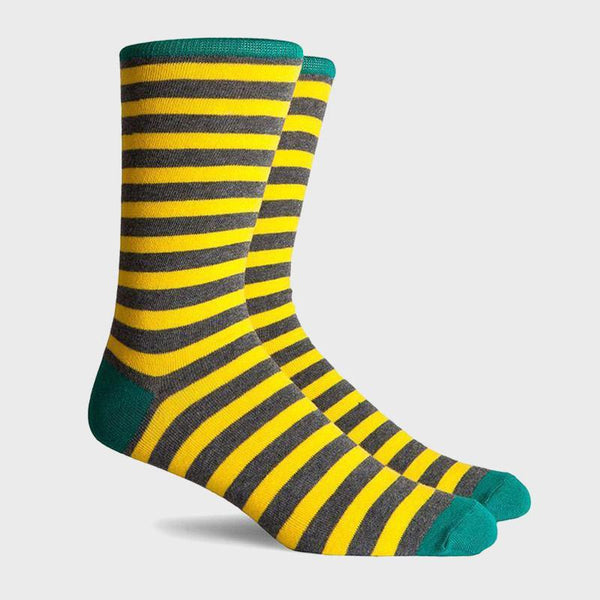 product: Richer Poorer Theo Crew Sock Charcoal Yellow