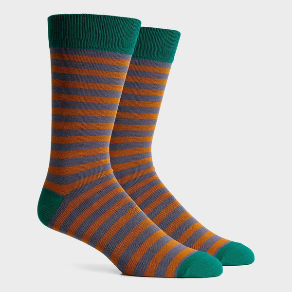 product: Richer Poorer Theo Socks Brown/ Green