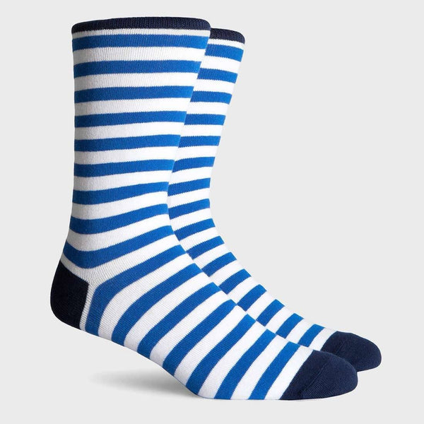 product: Richer Poorer Theo Crew Sock White Blue