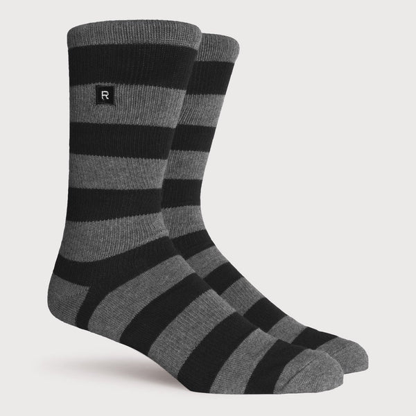 product: Richer Poorer Walk On Midweight Sock Black Charcoal