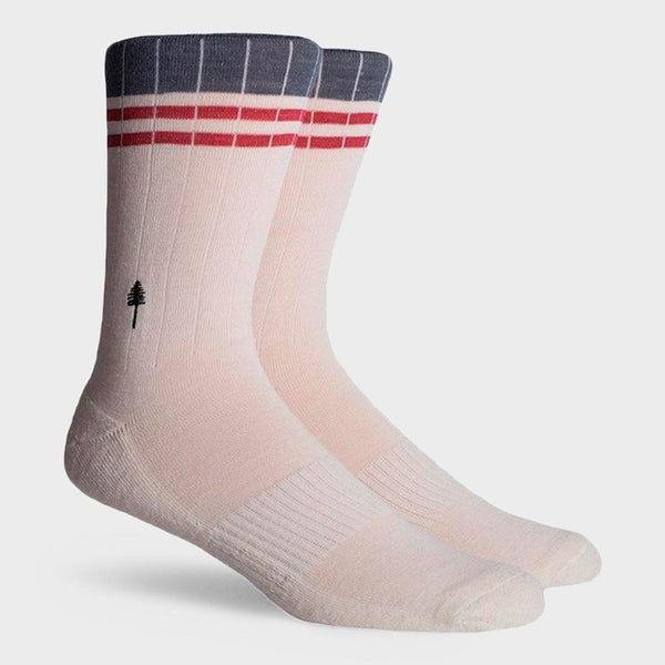 product: Richer Poorer Walker Lightweight Wool Sock Ivory Red