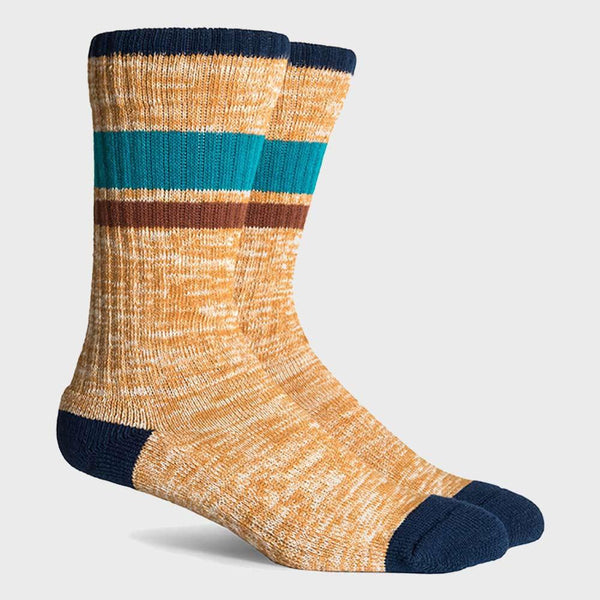 product: Richer Poorer Wildwood Hiking Heavy Sock Yellow Navy