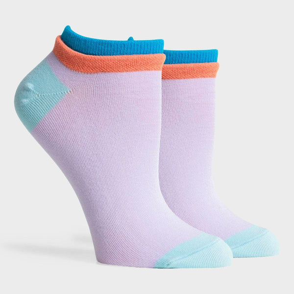 product: Richer Poorer Women's Cassat Low Sock Lilac/ Blue