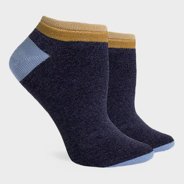 product: Richer Poorer Women's Cassat Low Sock Navy/Brown