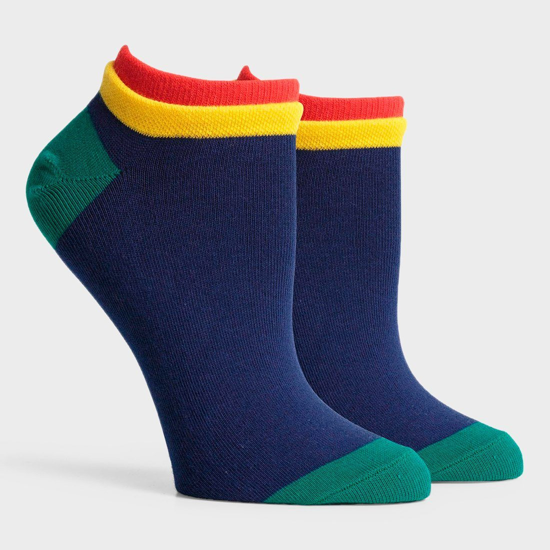 Richer Poorer Women's Cassat Low Sock Navy/ Red