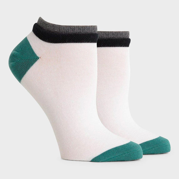 product: Richer Poorer Women's Cassat Low Sock White/ Green