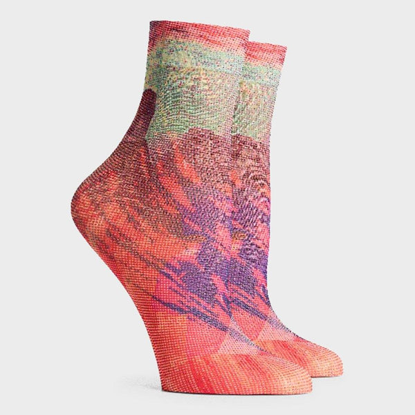 product: Richer Poorer Women's Collage Sock Beetroot Purple