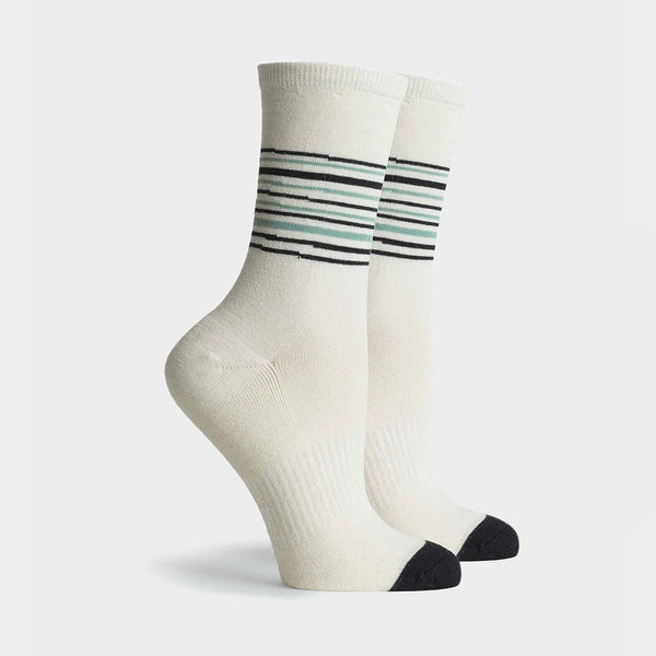product: Richer Poorer Women's Dover Crew Sock White Black