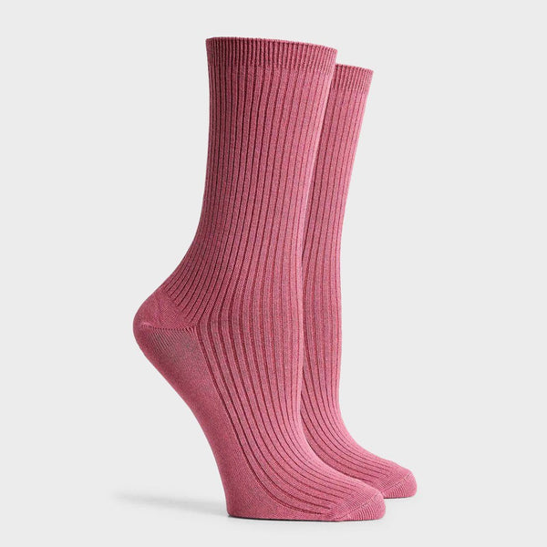 Richer Poorer Women's Nightingale Crew Sock Rebel Rose