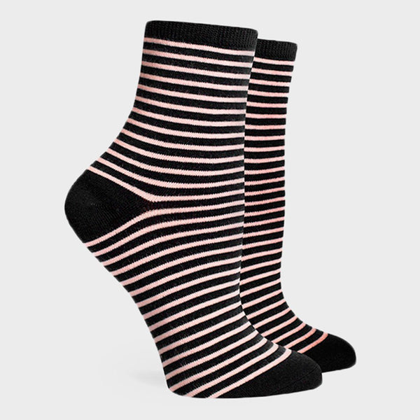 product: Richer Poorer Women's Skimmer Socks Black/ Pink