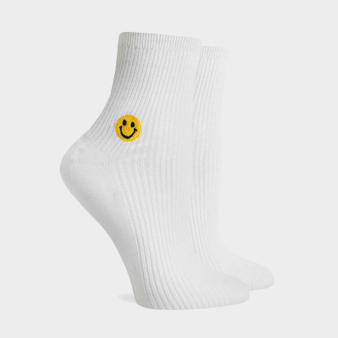 Richer Poorer Women's Smiles Crew Sock White