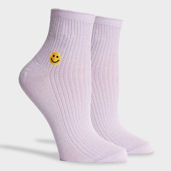 product: Richer Poorer Women's Smiles Modal Ankle Sock Lilac