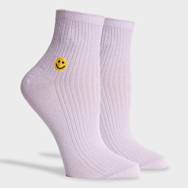product: Richer Poorer Women's Smiles Crew Sock Lilac
