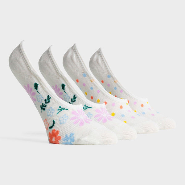 product: Richer Poorer Women's Summer No Show Sock White/ Multi