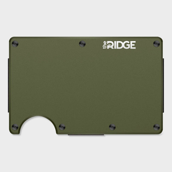 product: Ridge Aluminum Wallet OD Green