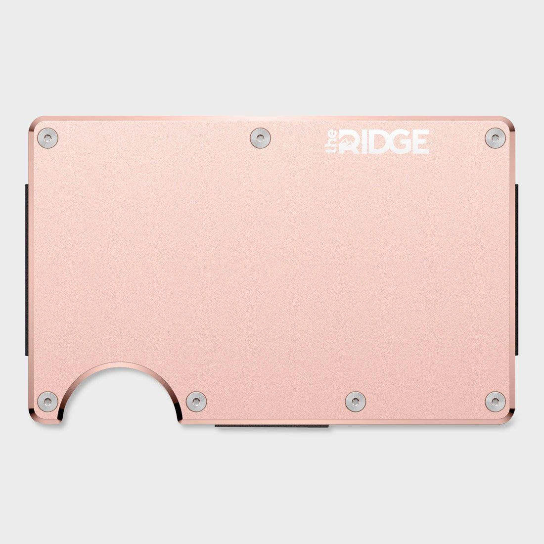 Ridge Aluminum Wallet Rose Gold