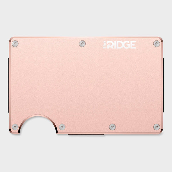 product: Ridge Aluminum Wallet Rose Gold